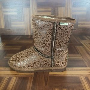 BEARPAW Suede & Sheepskin Brown Warm Winter Boots